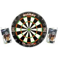 Dartboard Winmau Set, Blade IV + 2 Set Steeldarts Broadside