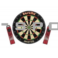 Dartboard Karella Set, Board + 2 Set Steeldart ST-1